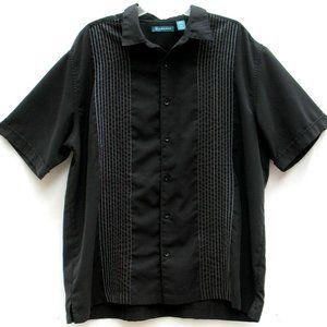 Cubavera Retro Cigar Cuban Lounge Shirt Black XXL